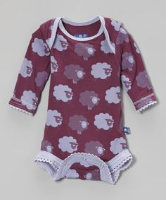 Look at this KicKee Pants Grapevine Sheep Scallop-Trim Bodysuit - Infant on #zulily today!
