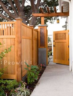 wood garden gate in san diego,ca