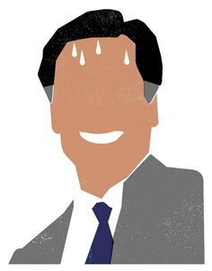 Mitt Romney is sweating it after his 47% video came out!  Illustration: Edel Rodriguez  Source: The iSpot