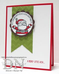 Unfrogettable Stamping | Week 7 Get Your Santa On QE Christmas card http://unfrogettablestamping.typepad.com/my_weblog/2014/11/week-7-of-my-twelve-weeks-of-quick-easy-christmas-card-ideas.html