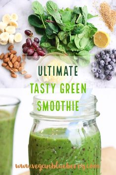 Healthy Smoothies Recipe How to HIDE the GREEN taste in your energy boosting smoothies! Energy Smoothie Recipes, Energy Smoothies, Green Smoothie Recipes, Smoothie Diet, Green Smoothies, Detox Smoothies, Smoothie Drinks, Healthy Breakfast Smoothies, Yummy Smoothies