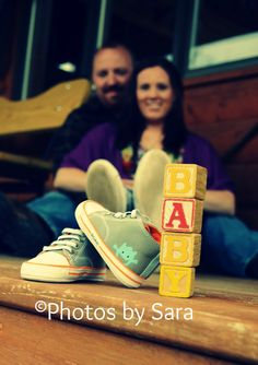 Here is a fun pose we did to announce a pregnancy :)