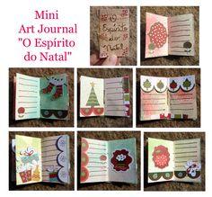 Mini Art Journal de Natal... Detalhes na postagem! Visite!