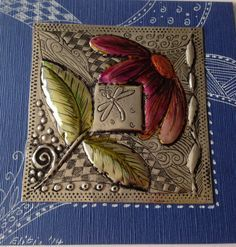 Pewter on card by Elitia Hart Metal Art www.pewterart.ca