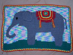 Elephant Crochet Pattern Elephant Blanket by BosomBuddyCreations
