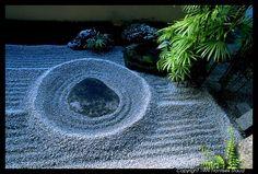 Photograph of The A-Un garden of Ryogen-in Zen garden, Kyoto, Japan photo Japanese Rock Garden, Zen Rock Garden, Dry Garden, Japanese Gardens, Kyoto Garden, Japan Garden, Japan Photo, Japan Design, Garden Photos