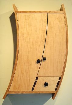 Curved Liquor Cabinet by Todd Bradlee: Wood Cabinet available at www.artfulhome.com