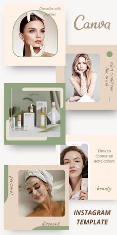 Instagram Design, Instagram Feed, Instagram Posts, Fashion Templates, Instagram Post Template, Lashes, Branding, Social Media, Skin Care