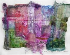 mixed media painting photography online teaching - Julie Prichard - Fabric and Paint and Stitching..and andand..