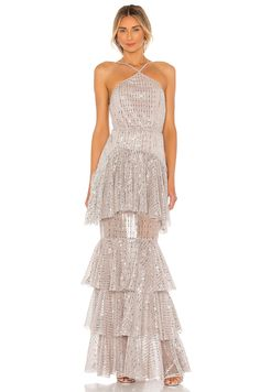 Silver blush sequin gown . #affiliate #bridalgowns #weddingideas Michael Costello, Sequin Gown, Men Style Tips, Party Looks, Revolve Clothing, Playing Dress Up, Mauve, Bridal Gowns, Sequins