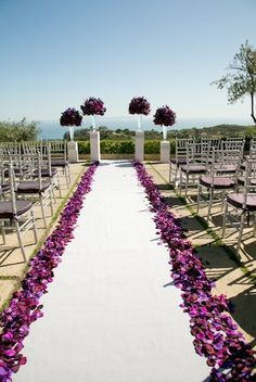 Luv this purple Wedding aisle flower décor, wedding ceremony flowers, pew flowers, wedding flowers, add pic source on comment and we will update it. can create this beautiful wedding flower look. Wedding Ceremony Ideas, Outdoor Ceremony, Wedding Themes, Wedding Decorations, Church Wedding, Budget Wedding, Church Decorations, Wedding Ceremonies, Ceremony Backdrop
