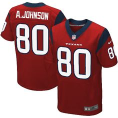 Mens Nike Elite Houston Texans http://#80 Andre Johnson Alternate Red NFL Jersey$129.99