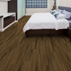 "Added this Allure Vinyl Plank DIY Flooring to my Wishlist - It's ""Bronze Teak"". Available exclusively at The Home Depot. Click the Pic to Shop it! #AllureFlooring"