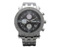 Mens Jojo/Jojino/Joe Rodeo All Black 3 Chronos 25 Diamond Watch Mj1055A