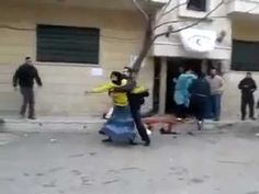 Footage after Baba Amr hospital was bombed: a woman screams, a bloodied corpse on the street; another in a van. Let Her Go, Let It Be, The Fool, Revolution, Youtube, Syria, Van, Street, Travel