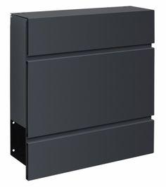 Design Briefkasten Edelstahl Anthrazit B1 Light Inklusive