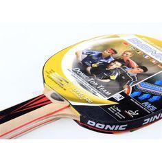 Donic Top Team 500 Masa Tenisi Raketi ve Topu - ITTF ( Uluslararası Masa Tenisi Federasyonu ) Onaylıdır.  Raketin Sap kısmında anti titreşim önleyici sistem bulunmaktadır.  Raket, 5 kat vario tahtasından oluşmaktadır.  Sünger kalınlığı 1,8 mmdir. - Price : TL37.00. Buy now at http://www.teleplus.com.tr/index.php/donic-top-team-500-masa-tenisi-raketi-ve-topu.html