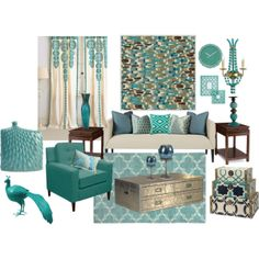Aqua Blue Living Room By Truthjc On Polyvore