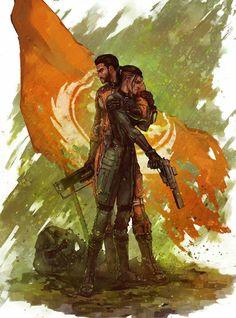 Fallout 4: Paladin Danse and Sole Survivor