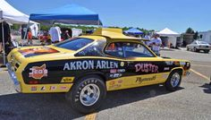 photos of gapp & roush pro stocks American Racing, American Muscle Cars, Nhra Pro Stock, Plymouth Muscle Cars, Plymouth Duster, Old Race Cars, Vintage Race Car, Drag Cars, Car Humor