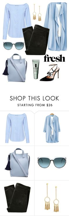 """Celeste y Negro!"" by schenonek ❤ liked on Polyvore featuring Theory, Steven Alan, Marc by Marc Jacobs, Chloé and Clinique"