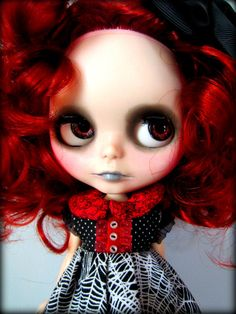 RESERVED for KELALILY on LAYAWAY Custom Gothic Blythe by shepuppy