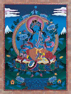 "PROTECTOR OF THE FEMININE The Blue Tara, represents a fierce form of the Taras. As ""Savioress"" she protects the feminine while removing obstacles and many dangers."