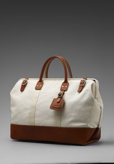 BILLYKIRK 20 Inch Carryall in Natural With Tan - Bags
