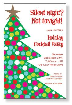 christmas party invitation wording | Homemade Christmas Party Invitations | Best Party Ideas