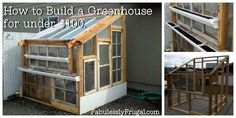 Greenhouse For Less Than $100?!?   Fabulessly Frugal