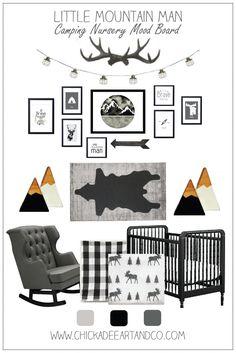 Little Mountain Man Camping Nursery Mood Board