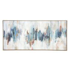 Edith Matt Abstract Canvas - Natural Frame