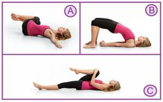 Flat belly exercises- They have me doing these exercises to help my back and the pain down my leg.  Do them!