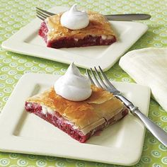 Dessert for Breakfast Recipes: Raspberry and White Chocolate Strudel