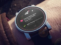 Dribbble App Notification Screen - Android Wear Concept