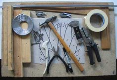 all the tools for stained glass leading