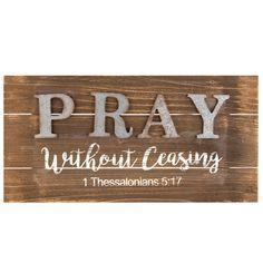 1 Thessalonians 5:17 Wood Wall Decor   Hobby Lobby