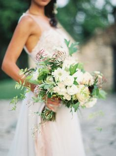 Soft French Chateau Inspired Maryland Wedding - over sized wedding bouquet wildflower bouquet asymmetrical bridal bouquet romantic brides bouquet Bride Flowers, Bride Bouquets, Wedding Flowers, Bouquet Flowers, Wedding Dresses, English Garden Wedding Inspiration, Garden Inspiration, Bouquet Photography, Romantic Photography