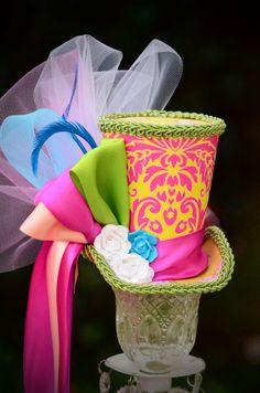 Mad Hatter Boho Chic Bride mini top hat fascinator, weddings, showers, tea and birthday parties, Victorian, photos. $35.00, via Etsy.