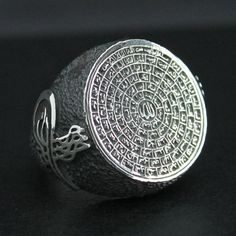 Sterling Silver Ring for Men with AlAsma' by KaraJewelsTurkey