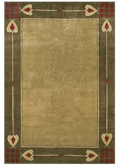 Highland Park – Green Stickley Rug Craftsman Area Rugs, Craftsman Style Bathrooms, Craftsman Style Interiors, Mission Style Decorating, Mission Style Homes, Mission Style Furniture, Art Deco Bathroom, Arts And Crafts House, Art And Craft Design