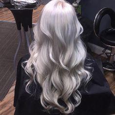 Grey Hair Wig, Ash Blonde Hair, Platinum Blonde Hair, Lace Hair, Ombre Hair, Pearl Blonde, Pearl Hair, Icy Blonde, Balayage Hair
