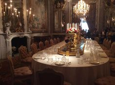 Dinner is served at Waddesdon Manor