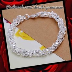 NEW LISTING Sterling silver chain bracelet Very unique chain link style. Sterling silver, 925 stamped bracelet. 8 inches long NEW2 available Jewelry Bracelets