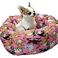 Sale 55 0 Chihuahua Pink Round Pet Bed Chihuahua Pink Round