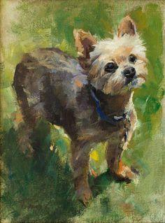 Patrick Saunders Szépművészeti - Kutya Portré - Festészet - Olaj, vászon - Mia