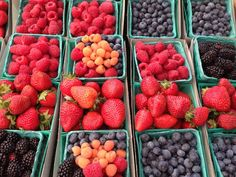 Fresh berries - farmers' market.