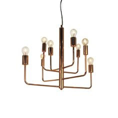 Taklampa Random Koppar, the sofa store Chandelier Ceiling Lights, Pendant Chandelier, Ceiling Lamp, Pendant Lighting, Industrial Lighting, Chandeliers, Hotel Interiors, Beautiful Lights, Lamp Design