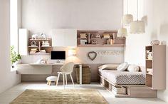 Descarregue o catálogo e solicite preços de Citynew 136 by Doimo Cityline, quarto modular para meninas, coleção Citynew