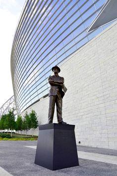 Tom Landry Statue at Cowboys Stadium in Arlington, TX.